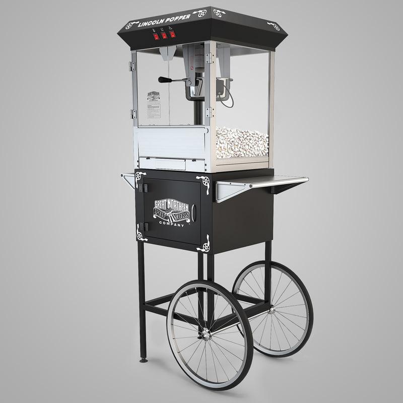 3dsmax popcorn cart