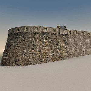 3d edinburgh castle model