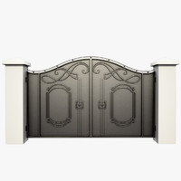 3d model of wrought iron gate
