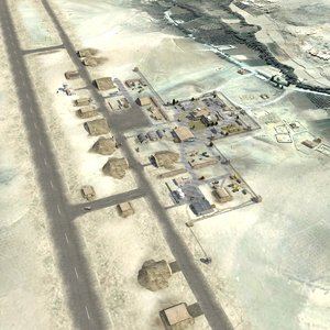 military airfield 3d max