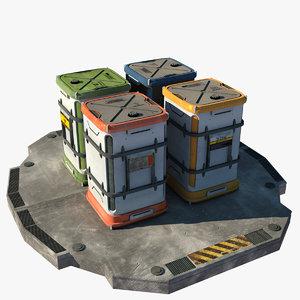 3d futuristic containers