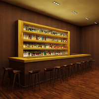 Bar 1 with 140 Liquor Bottles