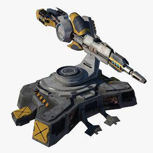 futuristic cannon 3d max