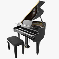 3d max digital grand piano