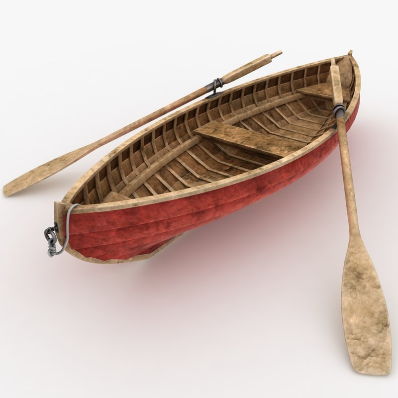 realistic rowboat dirty 3d 3ds