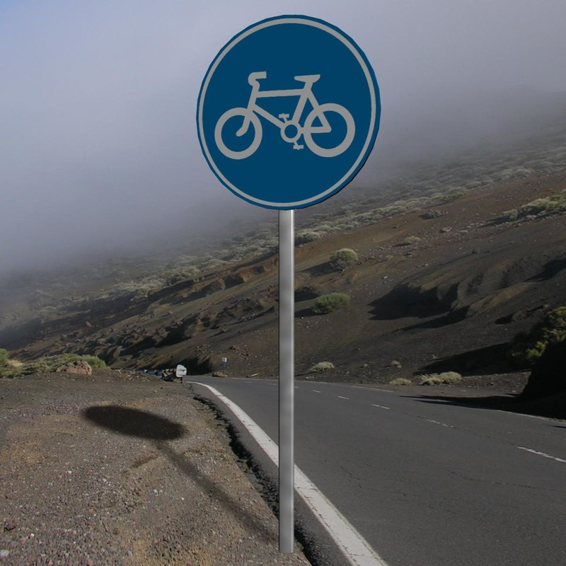 bicycle sign 3d model