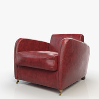 3ds max charmine lounge chair baxter