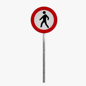 3d model prohibition sign