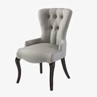 baker tufted accent chair 3d model