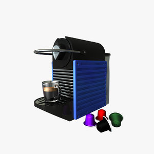 nespresso coffee machine 3d c4d