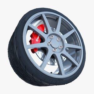3d sport carbon fiber wheel tire