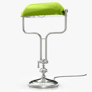 banker´s lamp 3ds