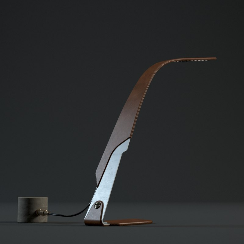 young orchid lamp 3d model