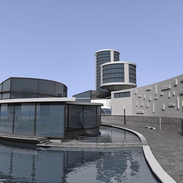 modern city block max