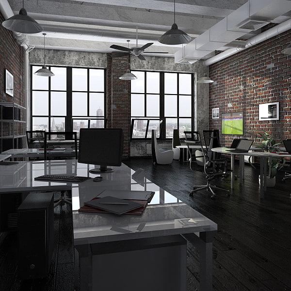 3d office design model