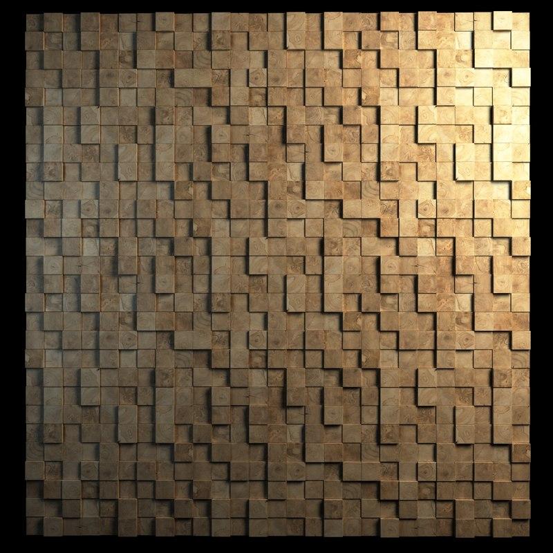 3d teak wall cladding