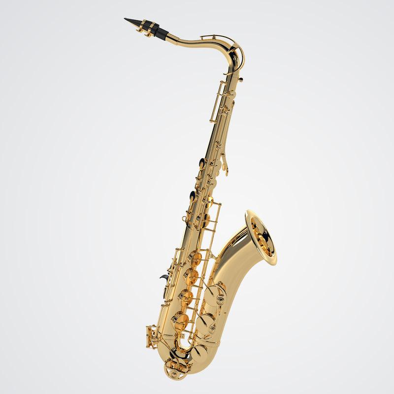3d tenor saxophone
