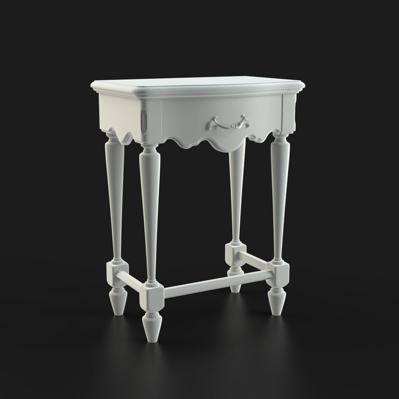bedside table furniture 3d max