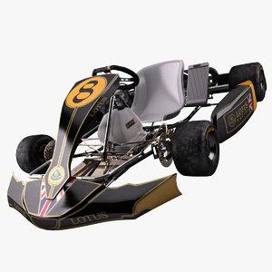 3dsmax racing go-kart