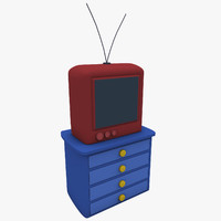 3ds max cartoon tv set