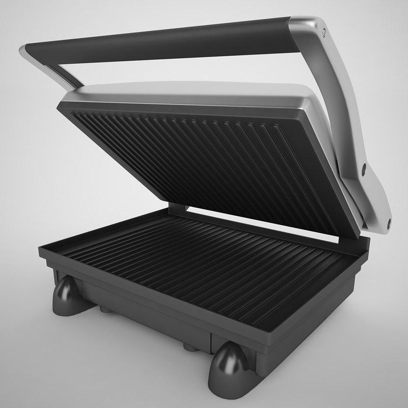 3d model of griddler sandwich maker