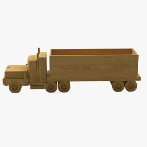 3d model wooden toy truck