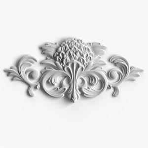 3d model small decorative element