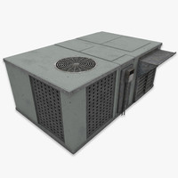 3d rooftop air condition unit