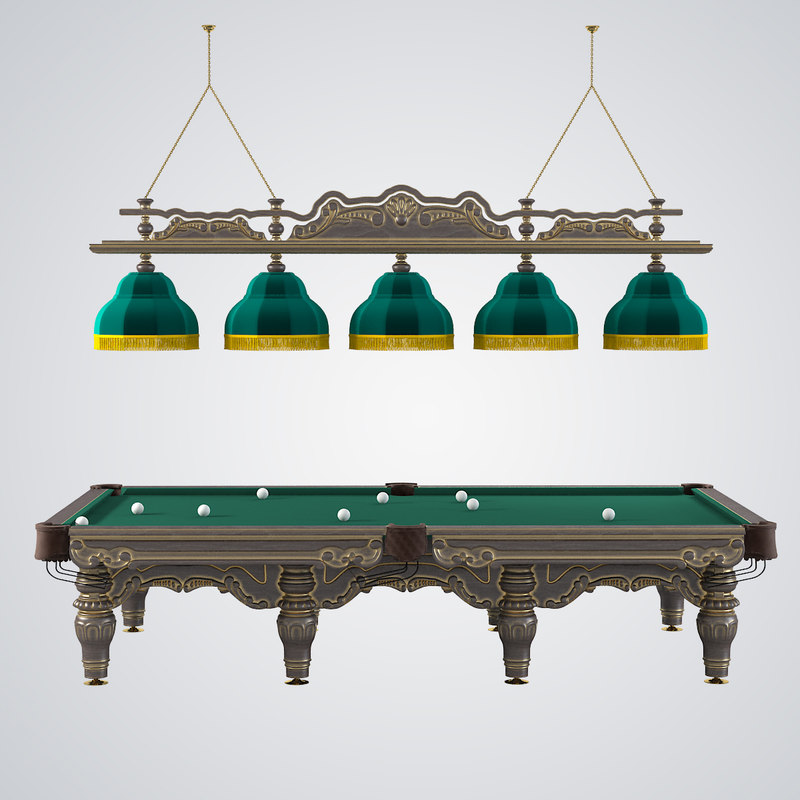 3d model billiard set