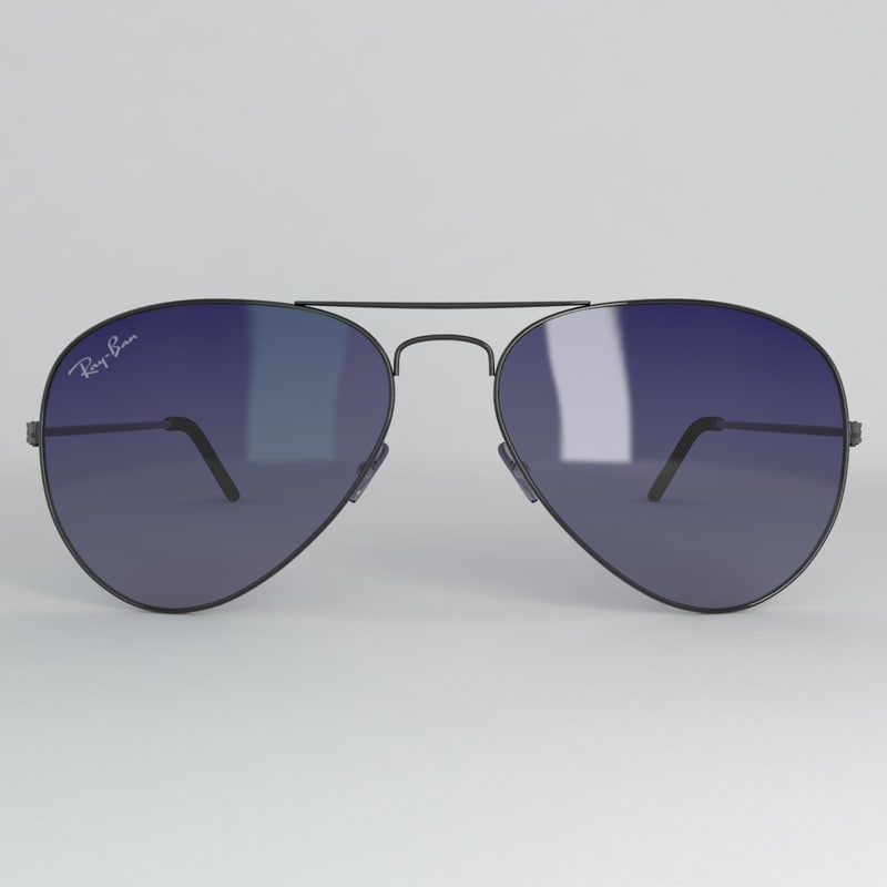 3d model ray-ban aviator sunglasses