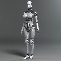 3d model female robot