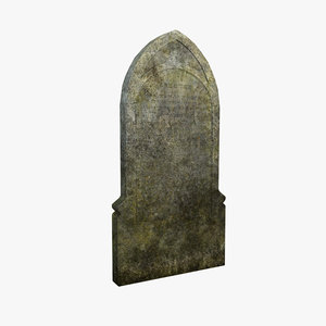 3d model grave gravestone stone