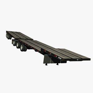 3d trailer doepker dropdeck model