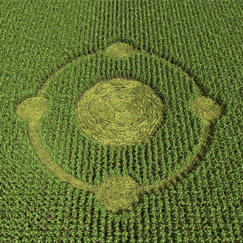 crop circle 3d max