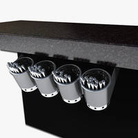 Under Bar Flatware Holder