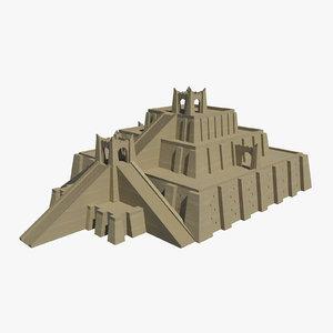 3ds ziggurat pyramid