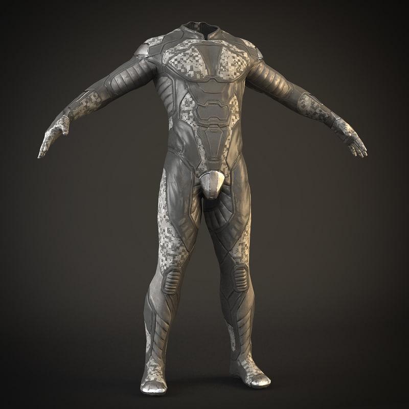 sci-fi suit 3d model