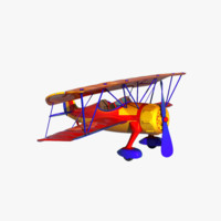plane cartoon 3d max