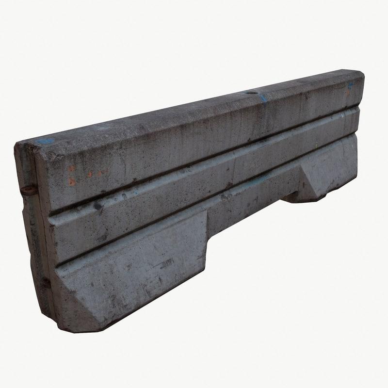maya concrete barrier