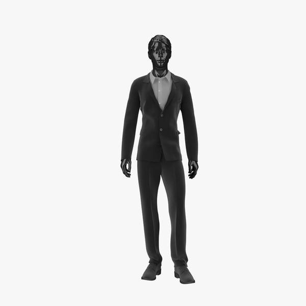 3d model showroom mannequin male 019