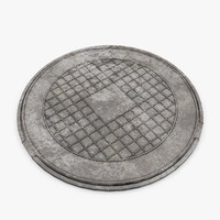 3d model manhole cover