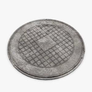 3d manhole cover model