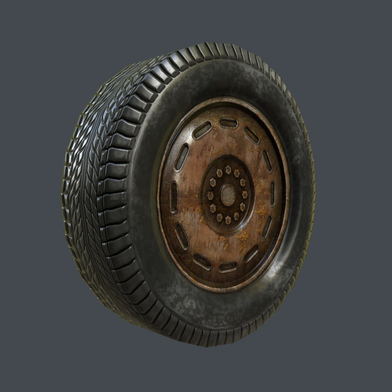 max rusty car tire