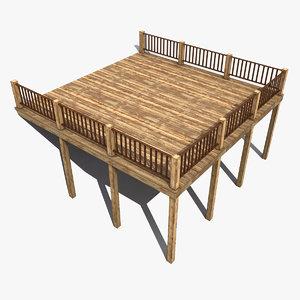 terrace modeled 3d model