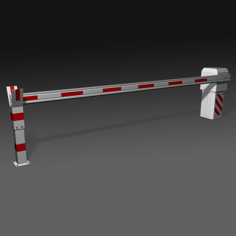 3d barrier bar model