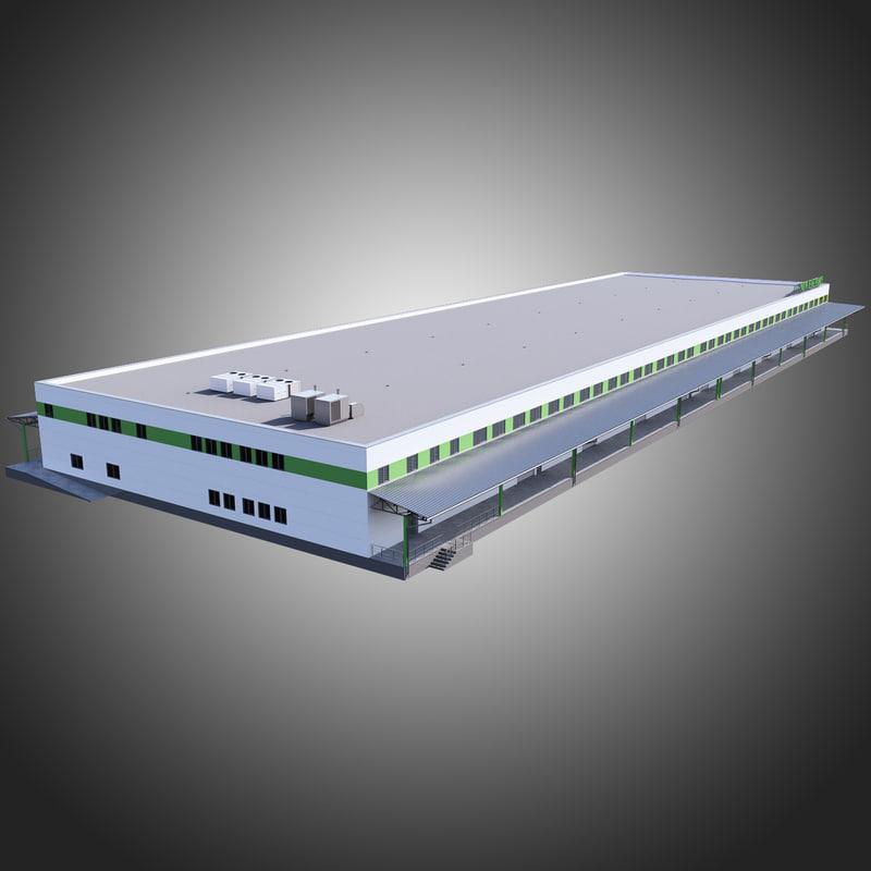 3d model warehouse factory house