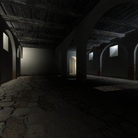 3d model of old medieval cellar