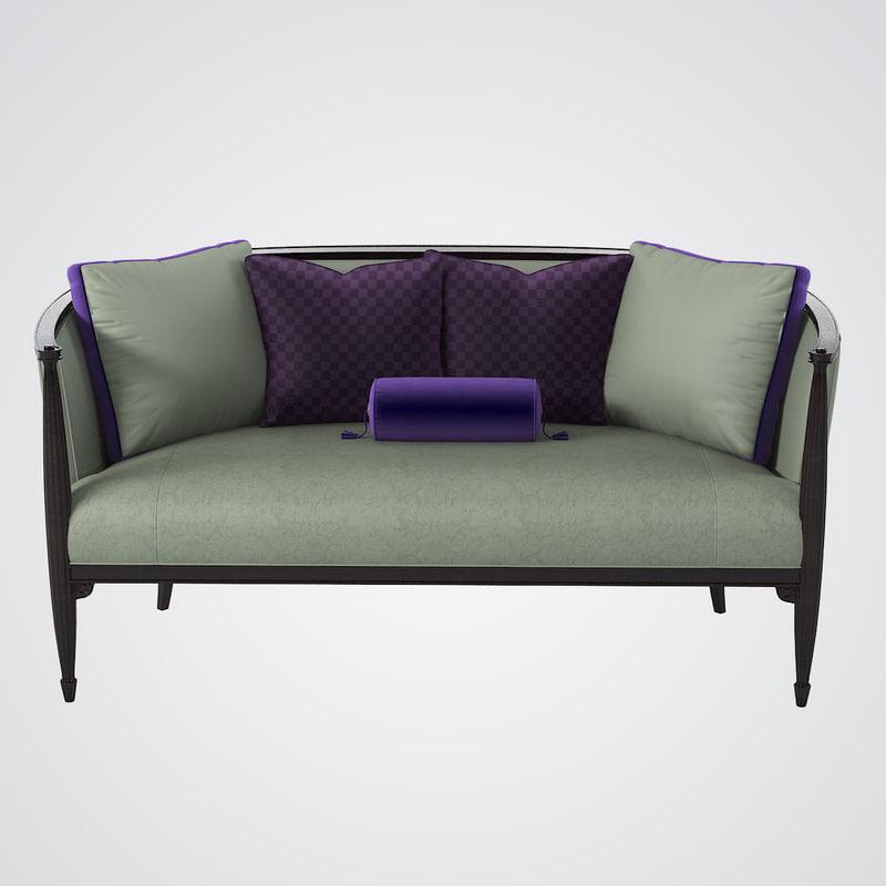 schnadig a900-070-a sofa 3d 3ds