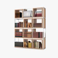 bookshelf books 3d max