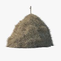 3d model hay stack